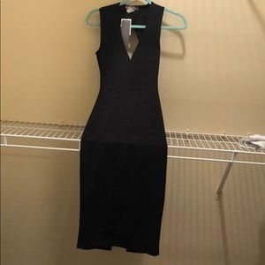 Black Bodycon dress with open back